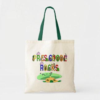 Preschool Rocks Mushroom Tote Bag