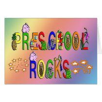 Preschool Rocks - Stars Card