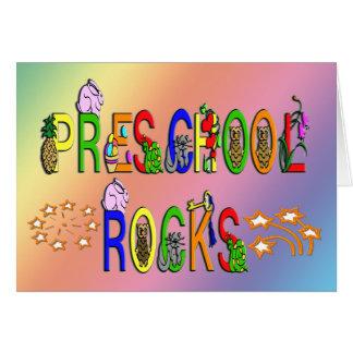 Preschool Rocks - Stars Card