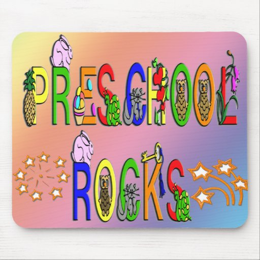 Preschool Rocks - Stars Mouse Pad