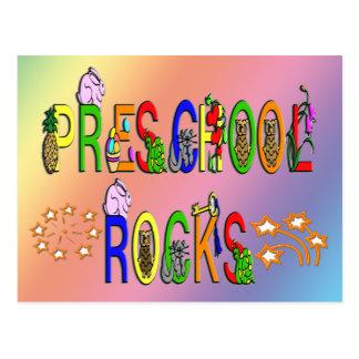 Preschool Rocks - Stars Postcard