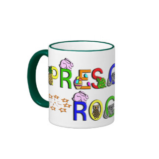 Preschool Rocks - Stars Ringer Mug