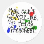 Preschool Scare Round Sticker