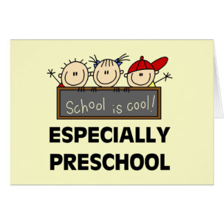 Preschool School is Cool Tshirts and Gifts Card