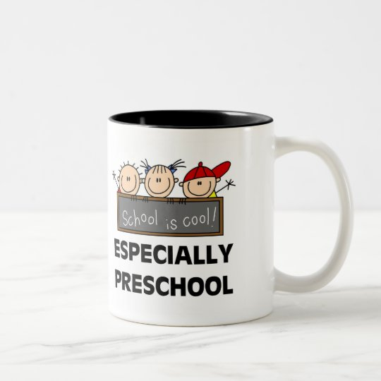 Preschool School is Cool Two-Tone Coffee Mug