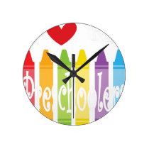 preschool teacher2 round clock
