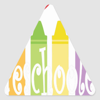 preschool teacher2 triangle sticker
