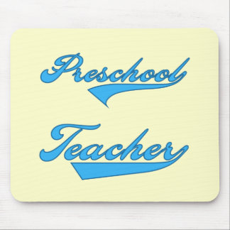 Preschool Teacher Blue Tshirts and Gifts Mouse Pad
