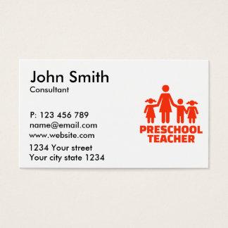 Preschool teacher business card