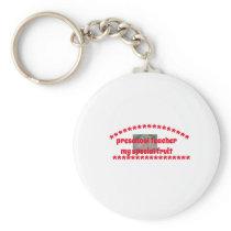 Preschool Teacher button keychain