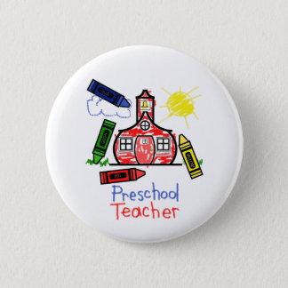 Preschool Teacher Button - Schoolhouse & Crayons