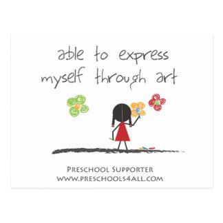 Preschool Teacher Comments Postcard