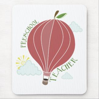 Preschool Teacher Hot Air Balloon Apple Mouse Pad