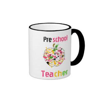Preschool Teacher Mug - Paint Splatter Apple