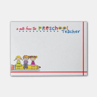 Preschool Teacher Post-it Notes