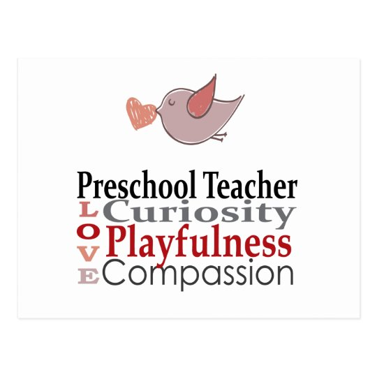 Preschool Teacher Postcard