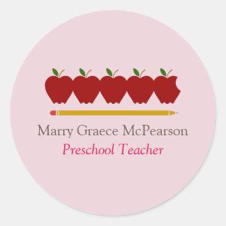 Preschool Teacher Professional Classic Round Sticker