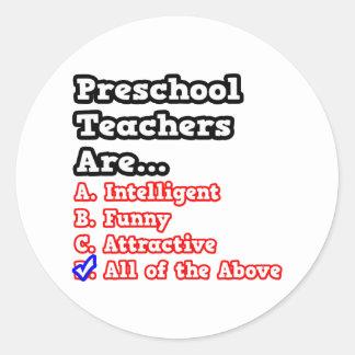 Preschool Teacher Quiz...Joke Stickers