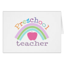 Preschool Teacher Rainbow Card