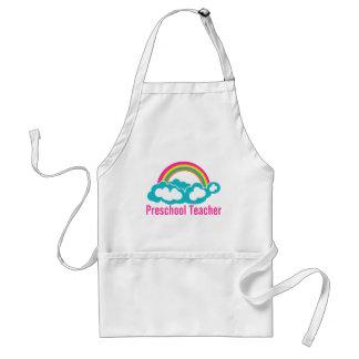 Preschool Teacher Rainbow Cloud Adult Apron
