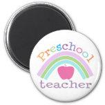 Preschool Teacher Rainbow Fridge Magnet