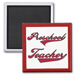 Preschool Teacher Red Text T-shirts and Gifts Magnet