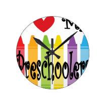 preschool teacher round clock