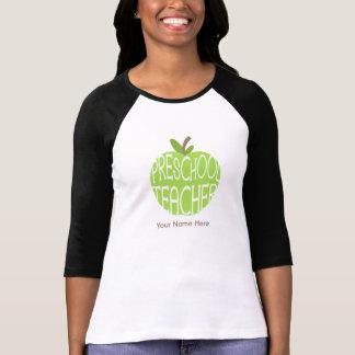 Preschool Teacher Shirt - Green Apple