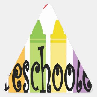 preschool teacher triangle sticker