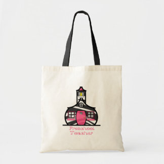 Preschool Teacher Zebra Print Schoolhouse Tote Bag