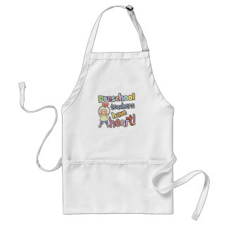 Preschool Teachers Have Heart Adult Apron