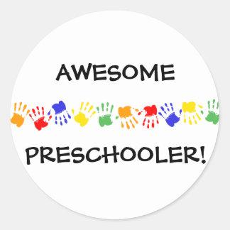 ¡Preschooler impresionante! Pegatina Redonda