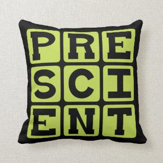 Prescient Foreknowledge Throw Pillows