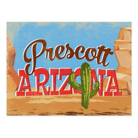 Prescott Arizona Vintage Travel Postcard