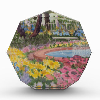 Prescott Park Garden Poppies Portsmouth NH Acrylic Award