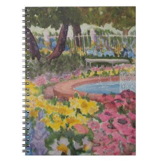 Prescott Park Garden Poppies Portsmouth NH Notebook