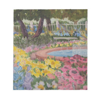 Prescott Park Garden Poppies Portsmouth NH Notepad
