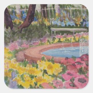 Prescott Park Garden Poppies Portsmouth NH Square Sticker