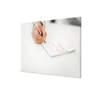 Prescripción de la escritura del doctor impresion de lienzo