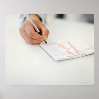 Prescripción de la escritura del doctor póster