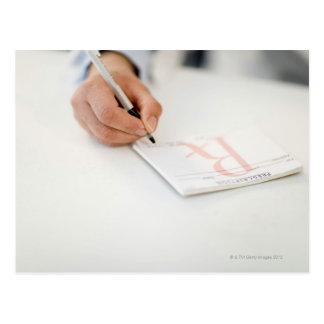 Prescripción de la escritura del doctor postal