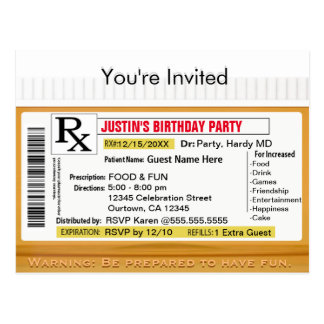 Prescripción de la invitación el | RX para la Postal
