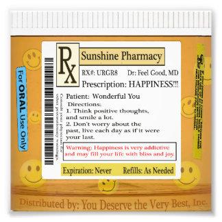 Prescripción de RX para la felicidad Fotografía
