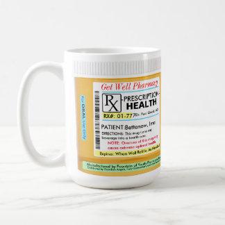 Prescripción de RX para la salud Taza