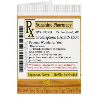 Prescripción divertida de la felicidad de RX Tarjeta De Felicitación
