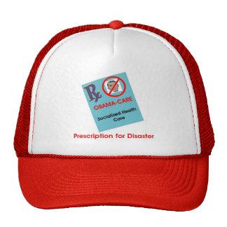 Prescripción para el cuidado de desastre-Obama Gorro De Camionero