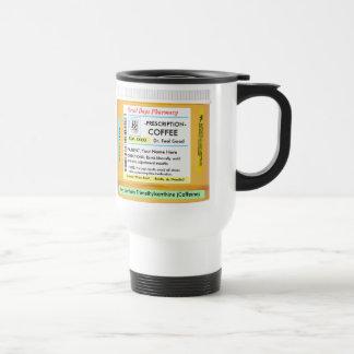 Prescripción RX de CustomizeABLEs del café Taza De Viaje De Acero Inoxidable