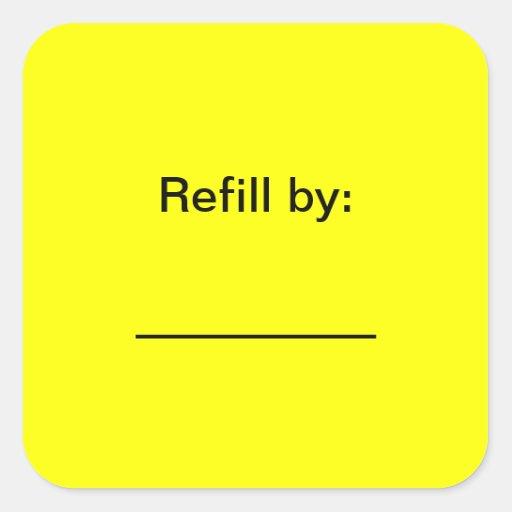 Prescription Bottle Refill Date Stickers