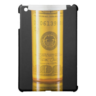 Prescription bottle with one hundred dollar bill iPad mini covers