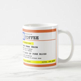 Prescription Coffee Personalized Classic White Coffee Mug